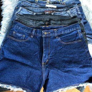 Denim - LOT OF 5 Women's Jean Shorts